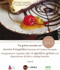 """locandina """"Le golose secondo me"""" 2013_Cristina Principale"""